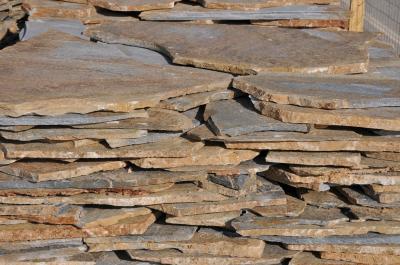 Bruine flagstones
